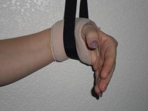 ace bandage on wrist