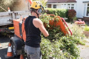 Wood Chipper Can Damage Hearing: Wear Ear Protection