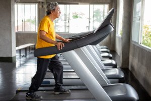 How Men 65+ Can Break the Treadmill Holding Habit
