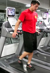 Backward Walking on a Treadmill: Take Your Hands Off Rails!