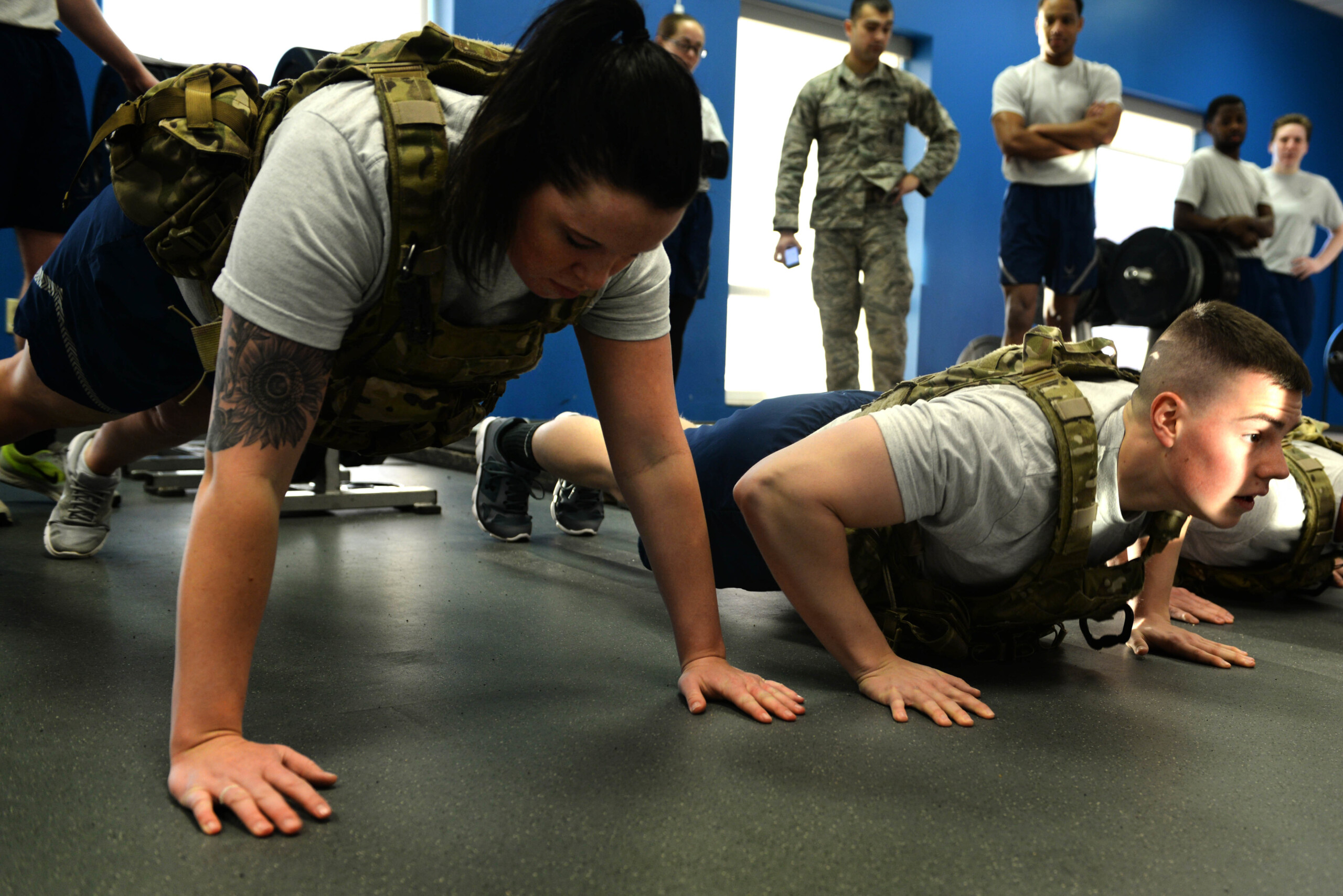 Bench Press vs. Weighted Vest Pushups