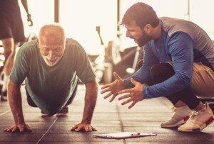 Elderly People Doing Pushups vs. Wall Presses