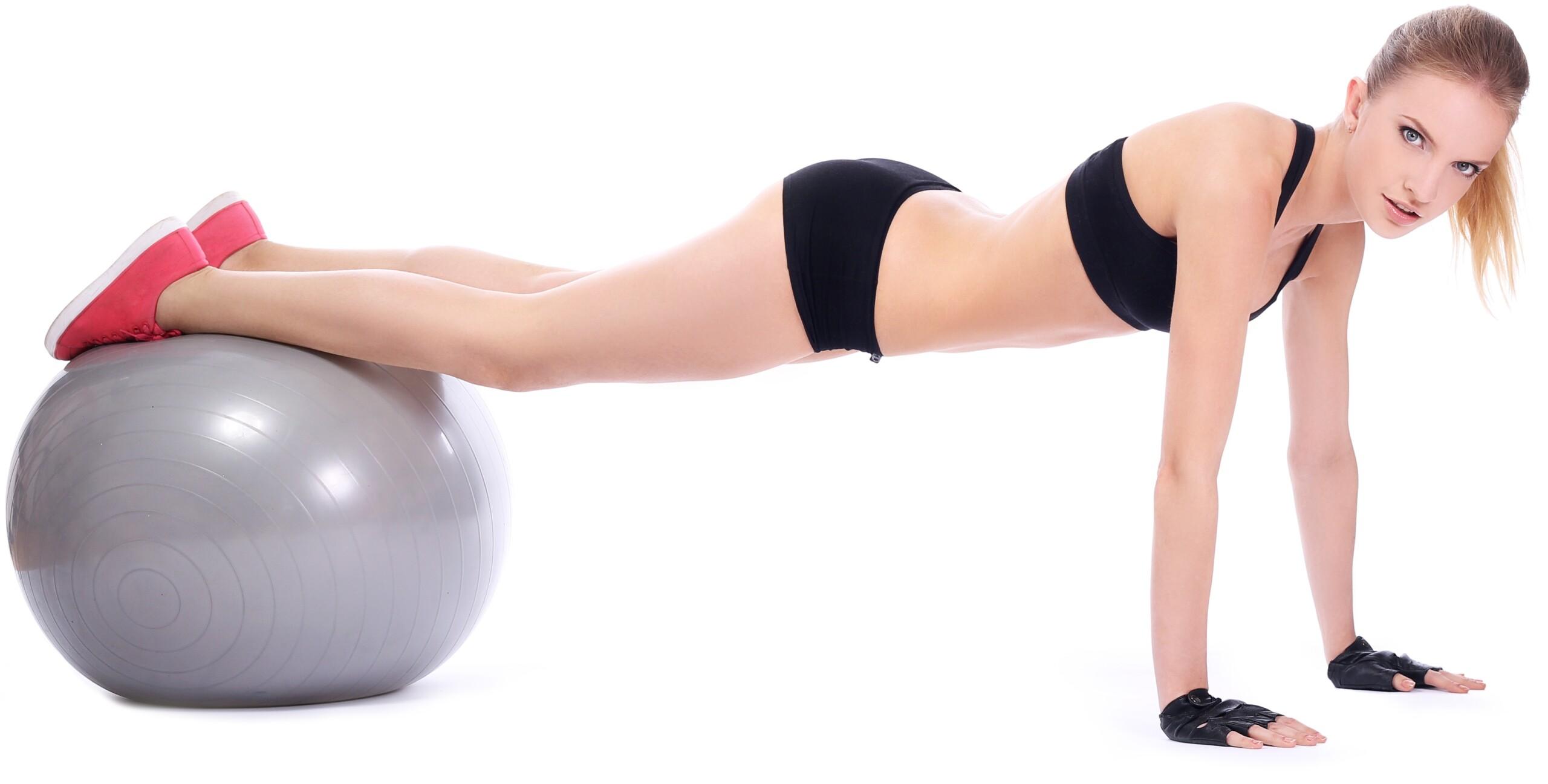 Pushups with Feet on a Fitness Ball vs. Regular Pushups