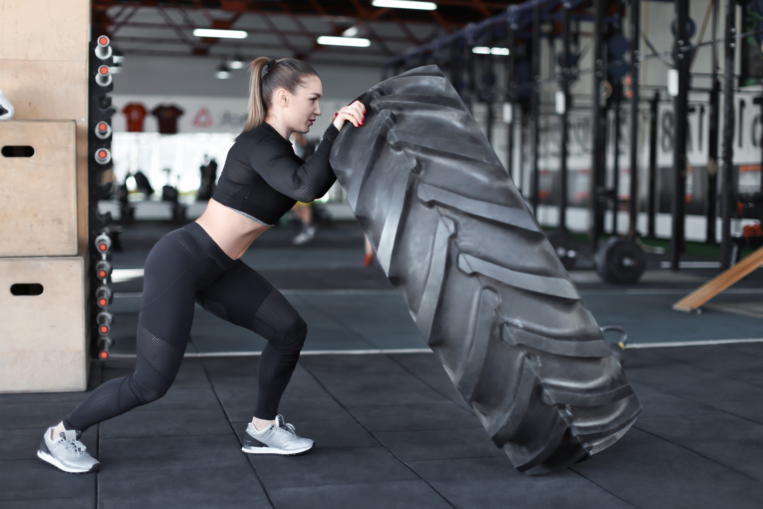 Grueling Entire Body Workout: Uphill Tire Flipping