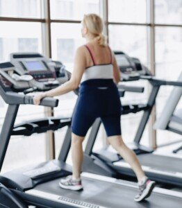 Older People Holding the Treadmill when Walking: Bad for Spine