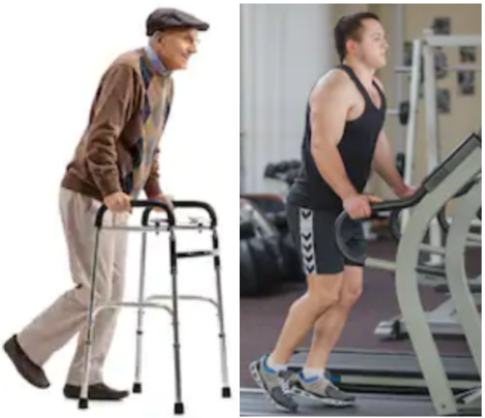 Holding onto a Treadmill vs. Using a Walker: Nearly the Same!: