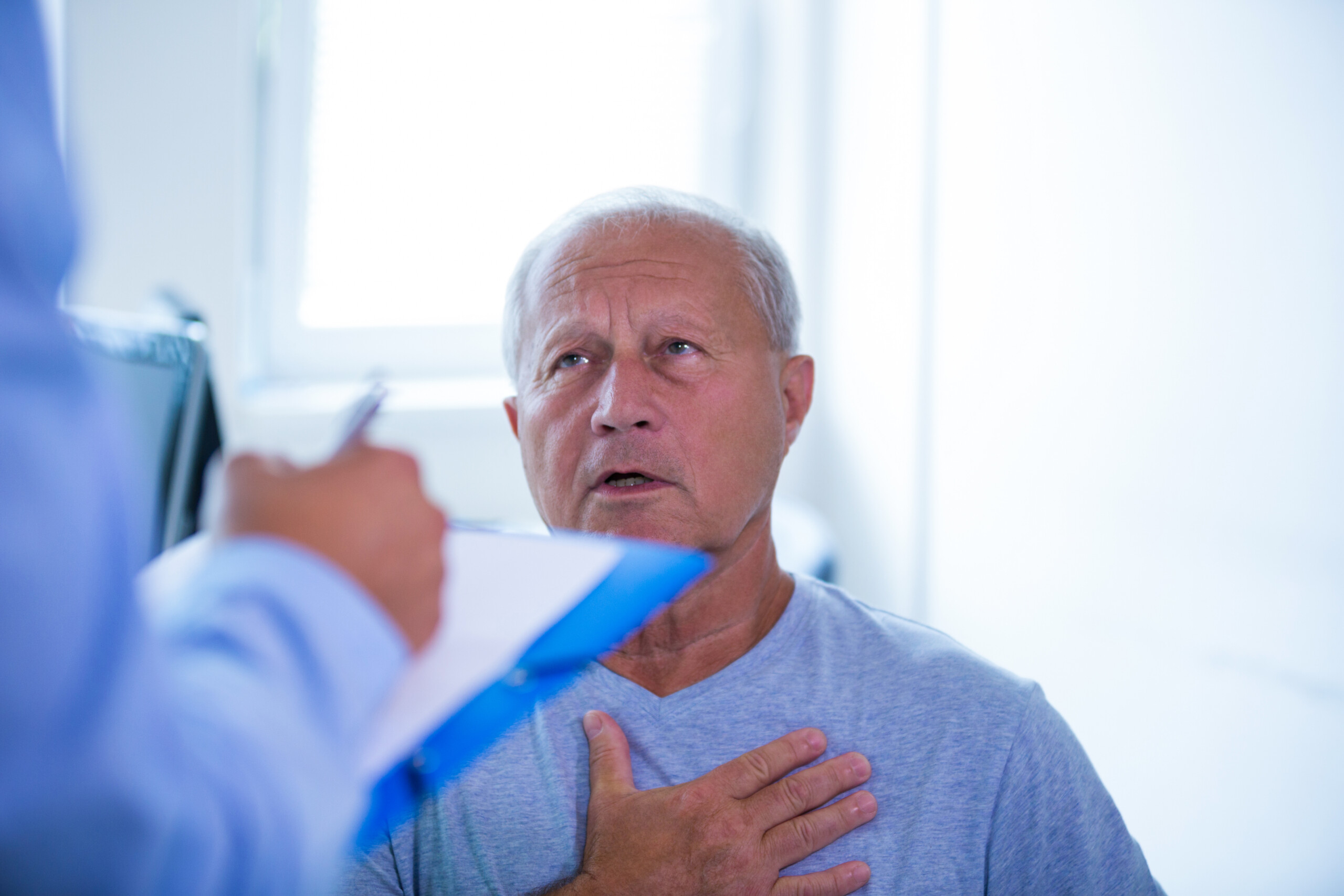 Chest Pain from Lung Cancer vs. Heart Disease: Comparison